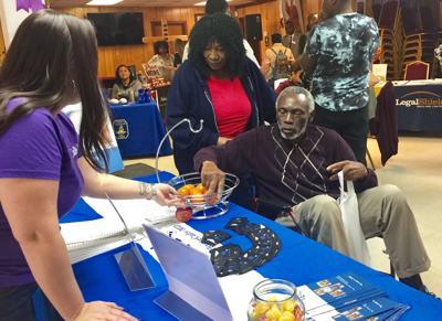 John Pinckney visits booths at the Clementa C. Pinckney Community Health Fair