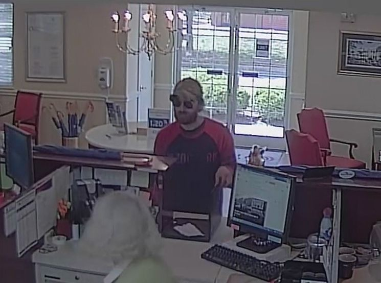 Mount Pleasant police release photo of bank holdup suspect
