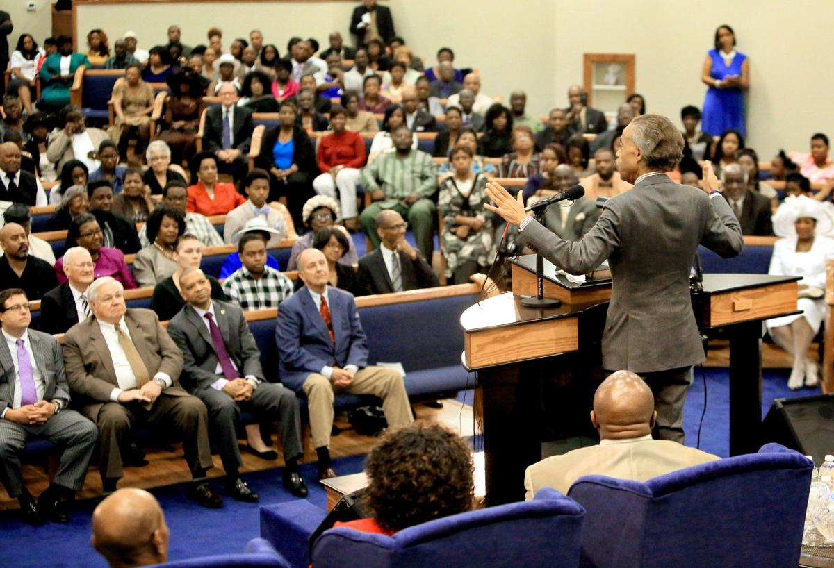 Rev. Sharpton praises city on day of healing