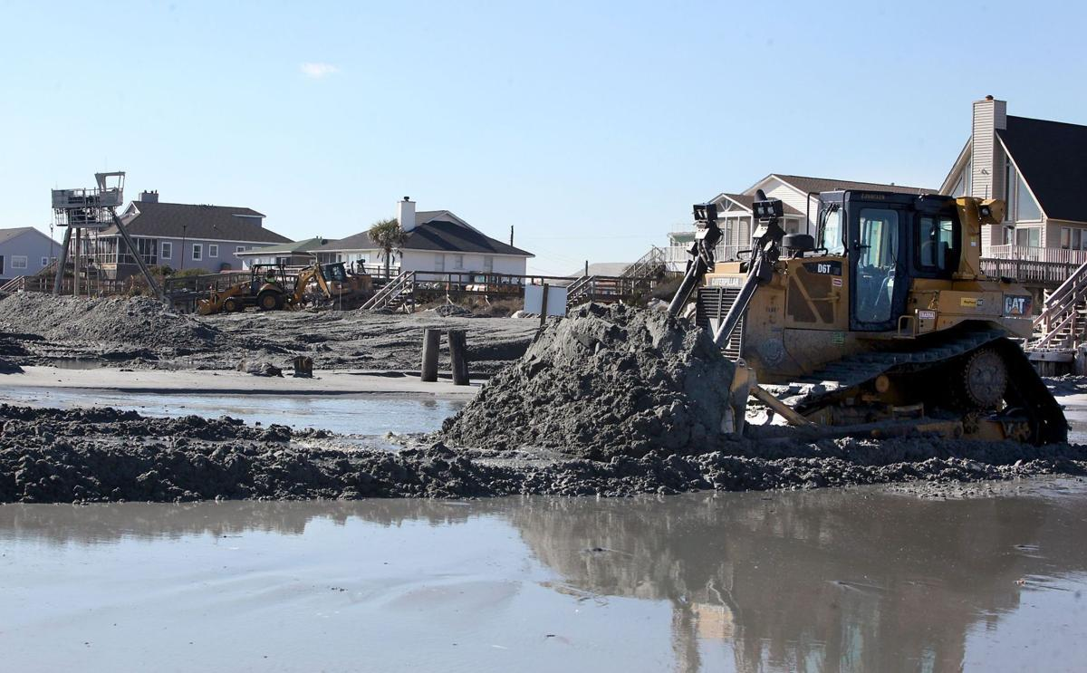 Combing for beach; grant to pay for offshore sand inventory