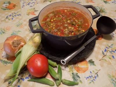 Fran Mahaffey's okra soup