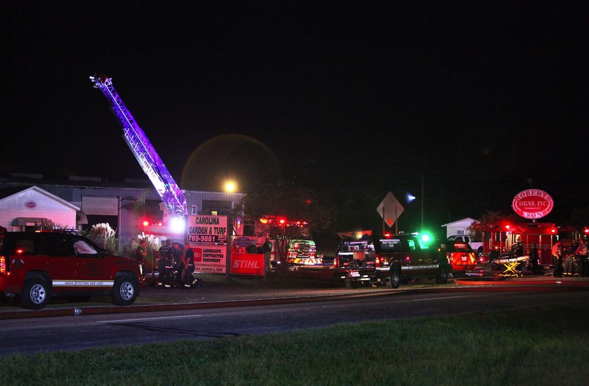 Fire guts building on U.S. 17, causing massive traffic snarl