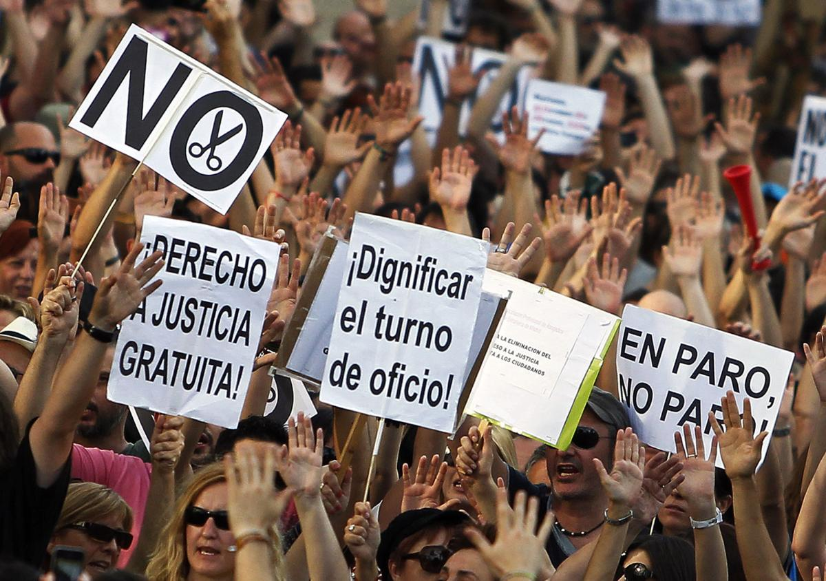 Marchers rally in Spain to protest unemployment