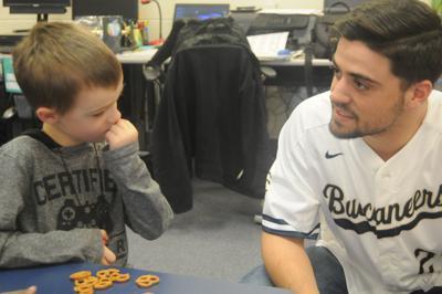 CSU baseball players visit Boulder Bluff Elementary
