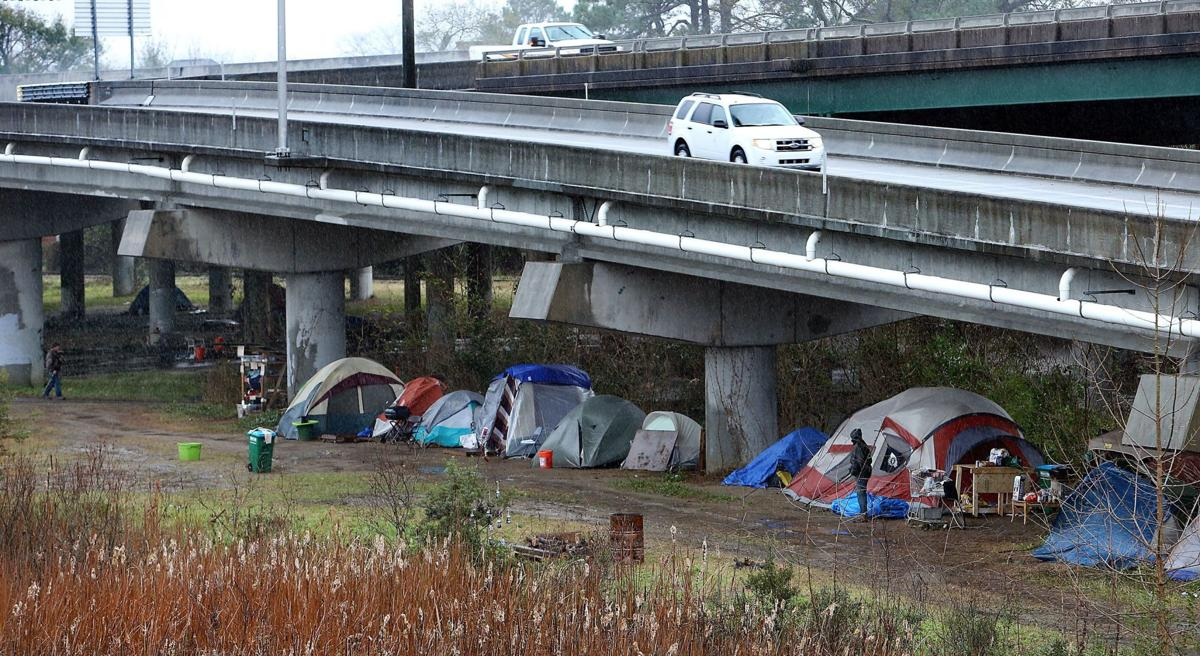 Another strong-arm robbery in Charleston's Tent City reported