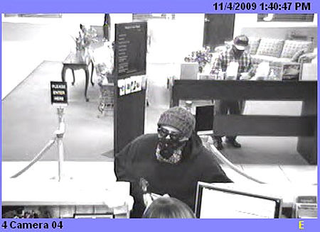 Suspect sought in bank robbery