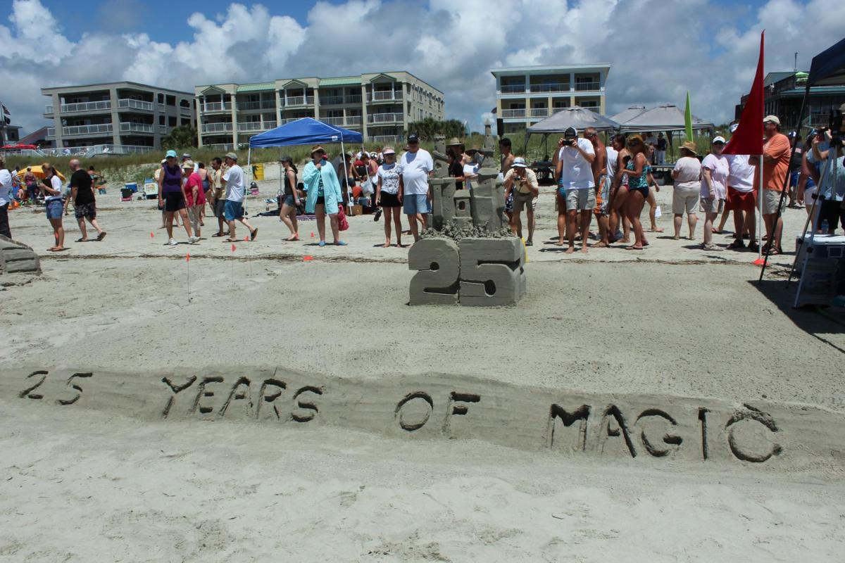 Art rises out of sand on the Isle of Palms
