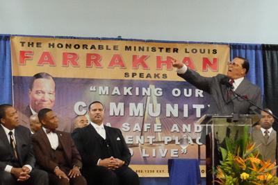 Louis Farrakhan speaks in North Charleston
