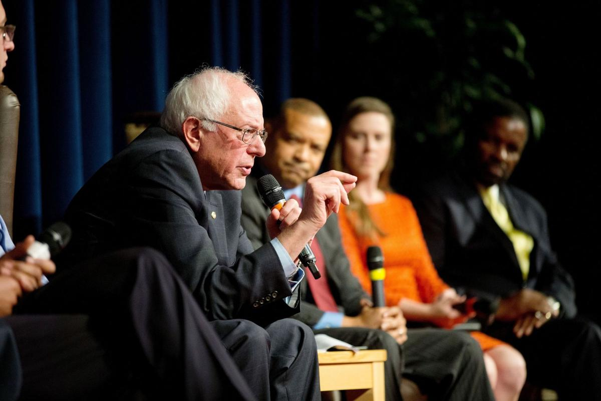 Bernie Sanders at Burke