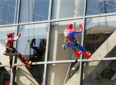 Heroic Effort: Superheroes visit patients at MUSC Children's Hospital