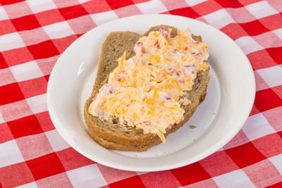 Pimento Cheese Sandwich on Rye Bread