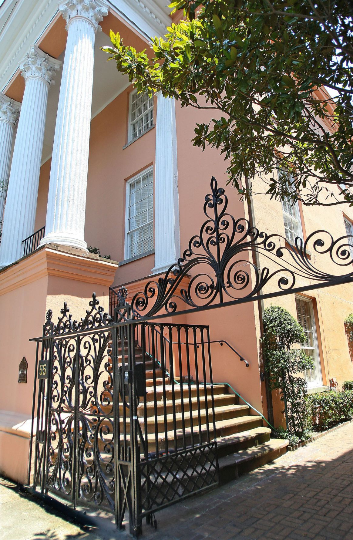 55-D Society Street Distinct living quarters in historic Charleston building boast up to 18-foot ceilings, luxury perks