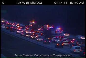 Multiple wrecks stalling eastbound traffic on I-26