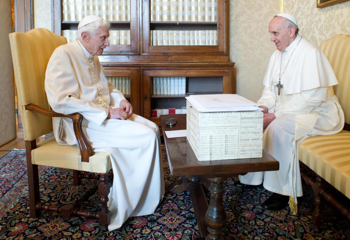 Pope Francis to Benedict, 'We are brothers'