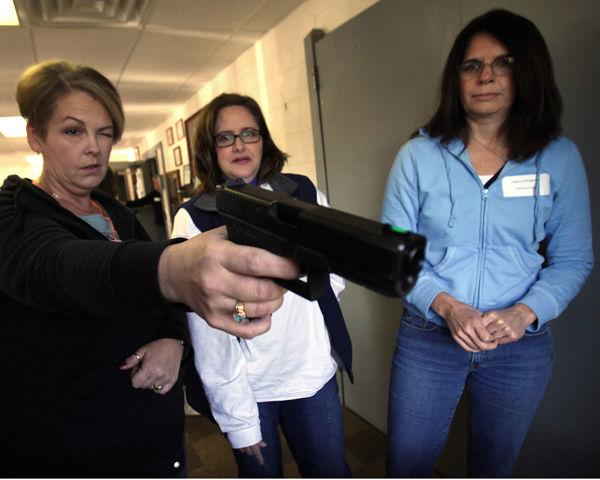 Women at home on (gun) range