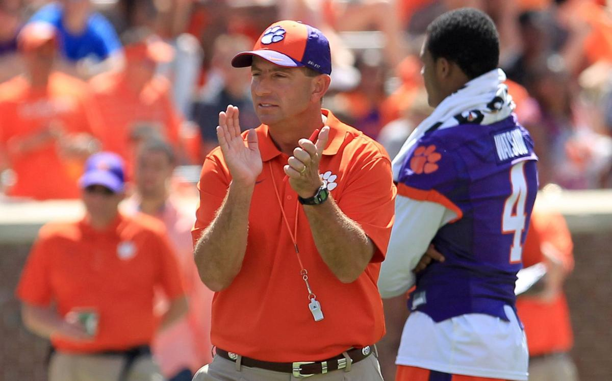 7 at 7: Team trainer critical to Clemson's 2015 season, more Swinney notes