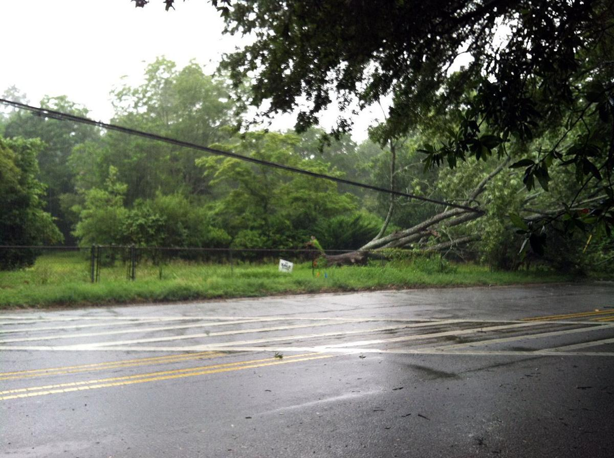 Storm knocks out power for hundreds in Charleston area