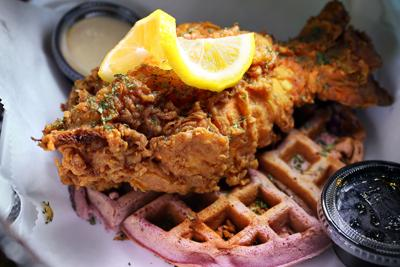 Trendlines: lobster with waffle at Nana's (copy)