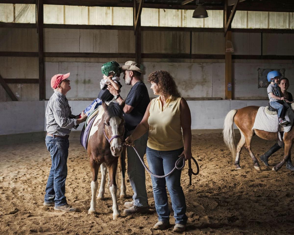 With hippotherapy, horse provides therapy