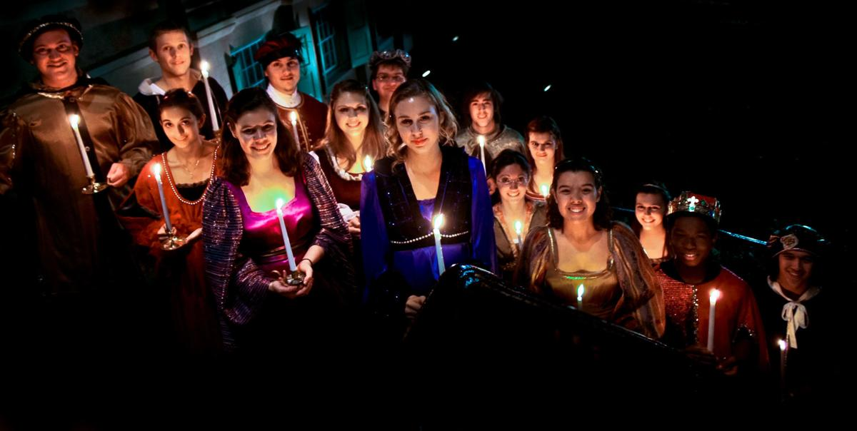 Madrigal singers with candles (copy)