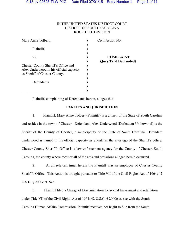 PDF: Lawsuit against Alex Underwood