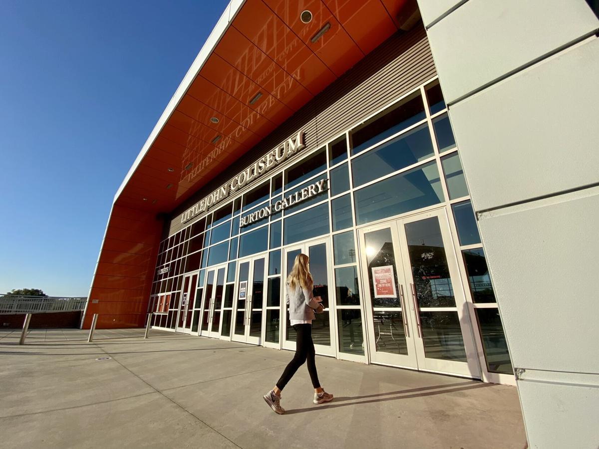 Clemson University's COVID-19 testing strategy, Littlejohn Coliseum