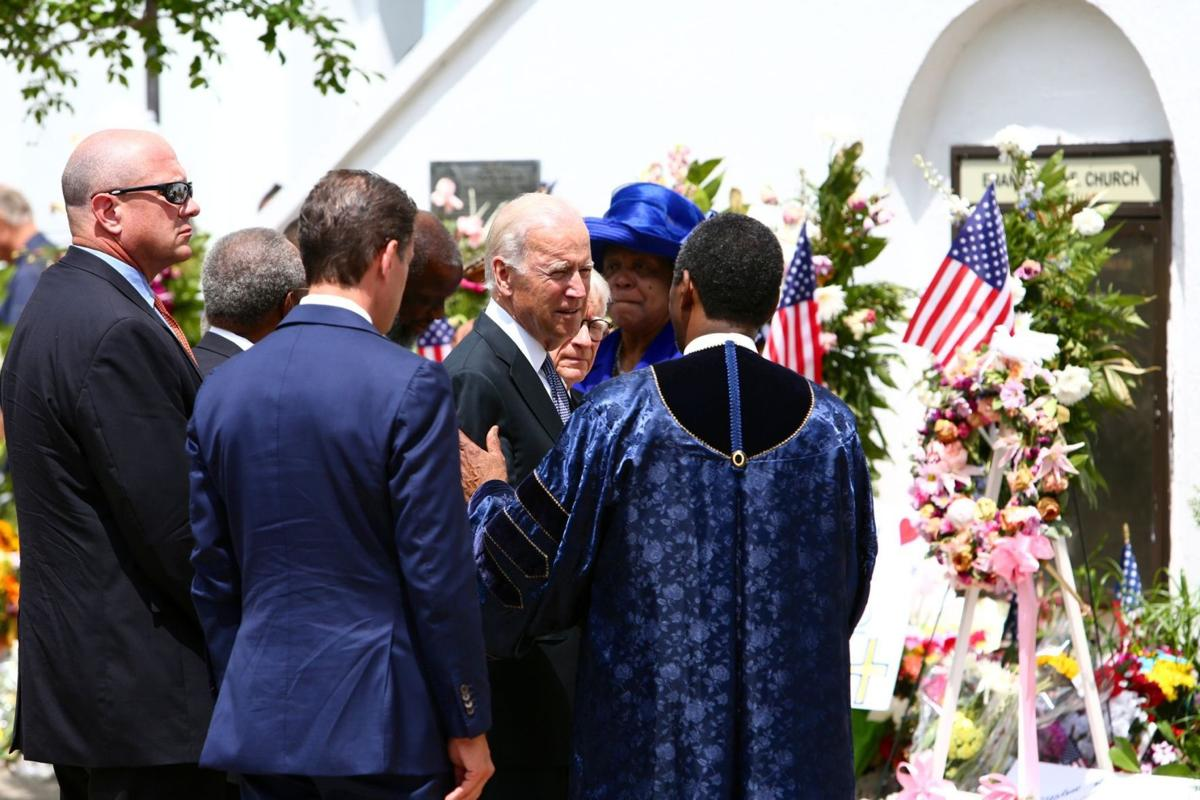 As grieving dad, Biden draws strength from Emanuel AME