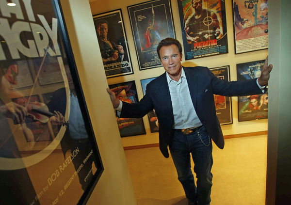 Arnold Schwarzenegger ready for his next move