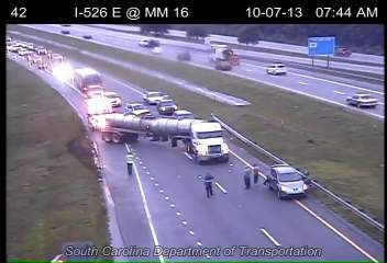 Wreck near Ashley Phosphate exit causing delays on I-26 eastbound