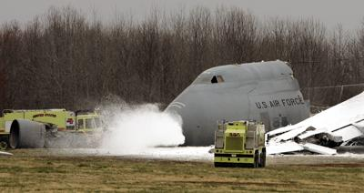 MILITARY PLANE CRASH fire foam