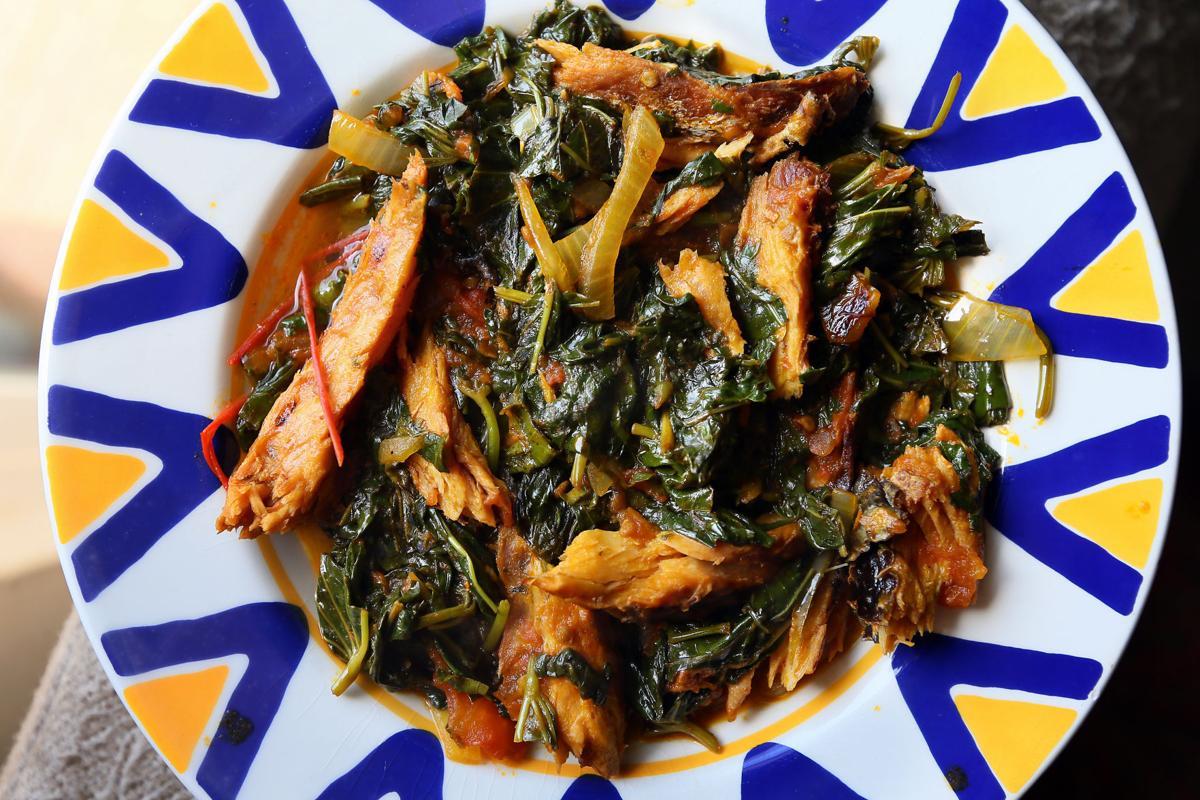 greens fish Congolese Kitchen Cabinet.jpg