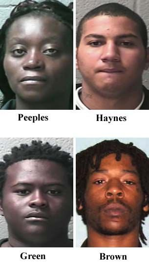 Woman, 3 men charged in rapper's death
