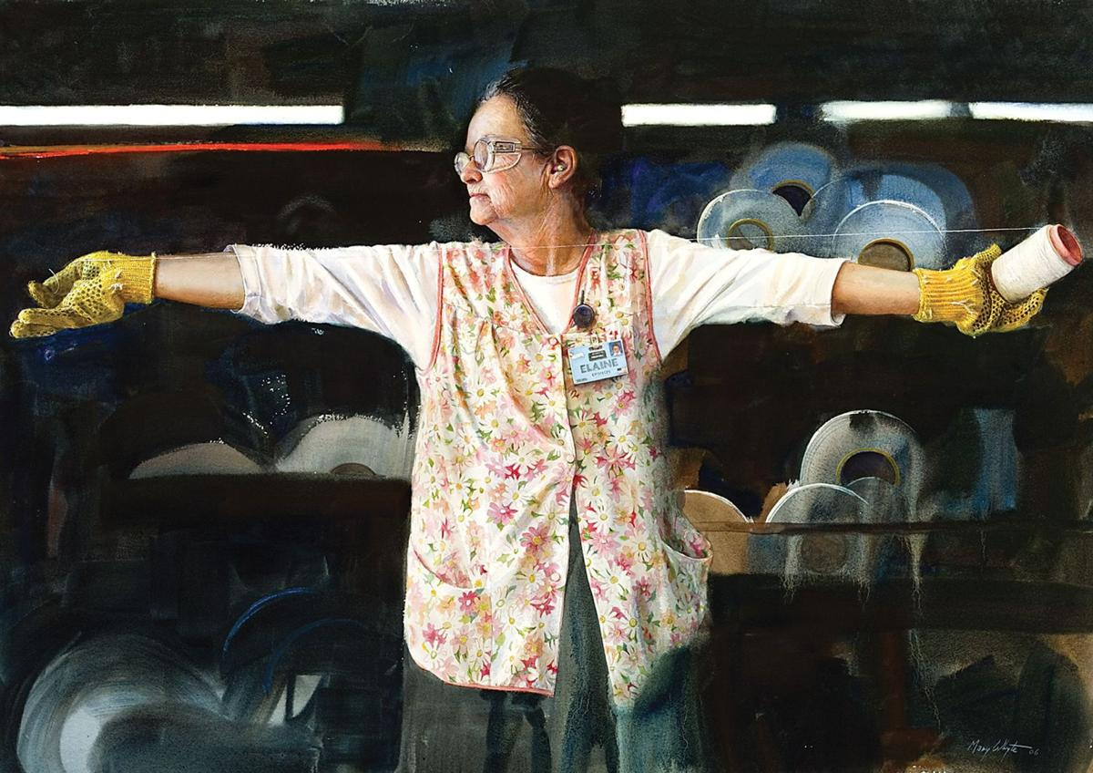 Portraits capture nobility of workers Gibbes exhibit featuring works by Mary Whyte focuses on blue-collar lifestyle