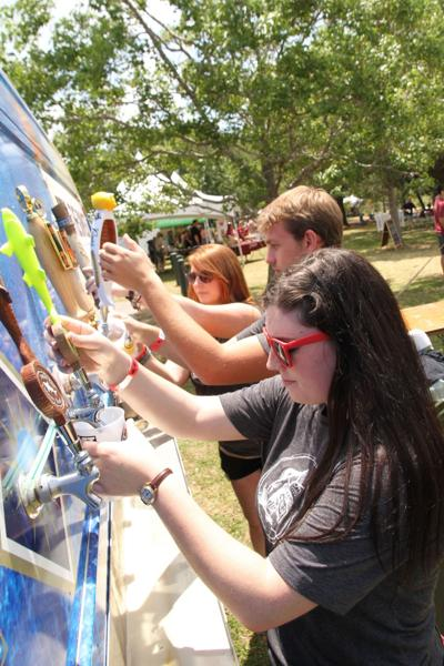 Charleston Beer Garden offers 30 types of craft beers, games, live music