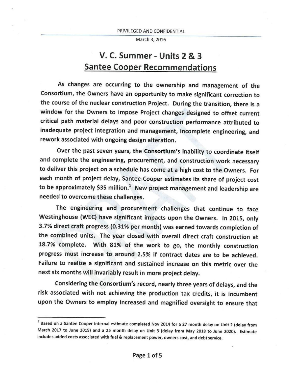 Santee Cooper Report