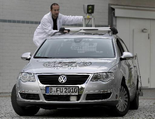 Driverless car navigates Berlin streets