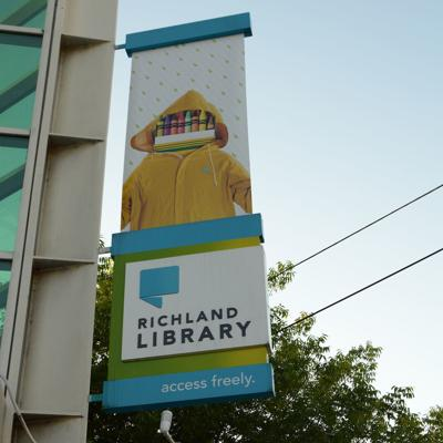 Richland Library sign