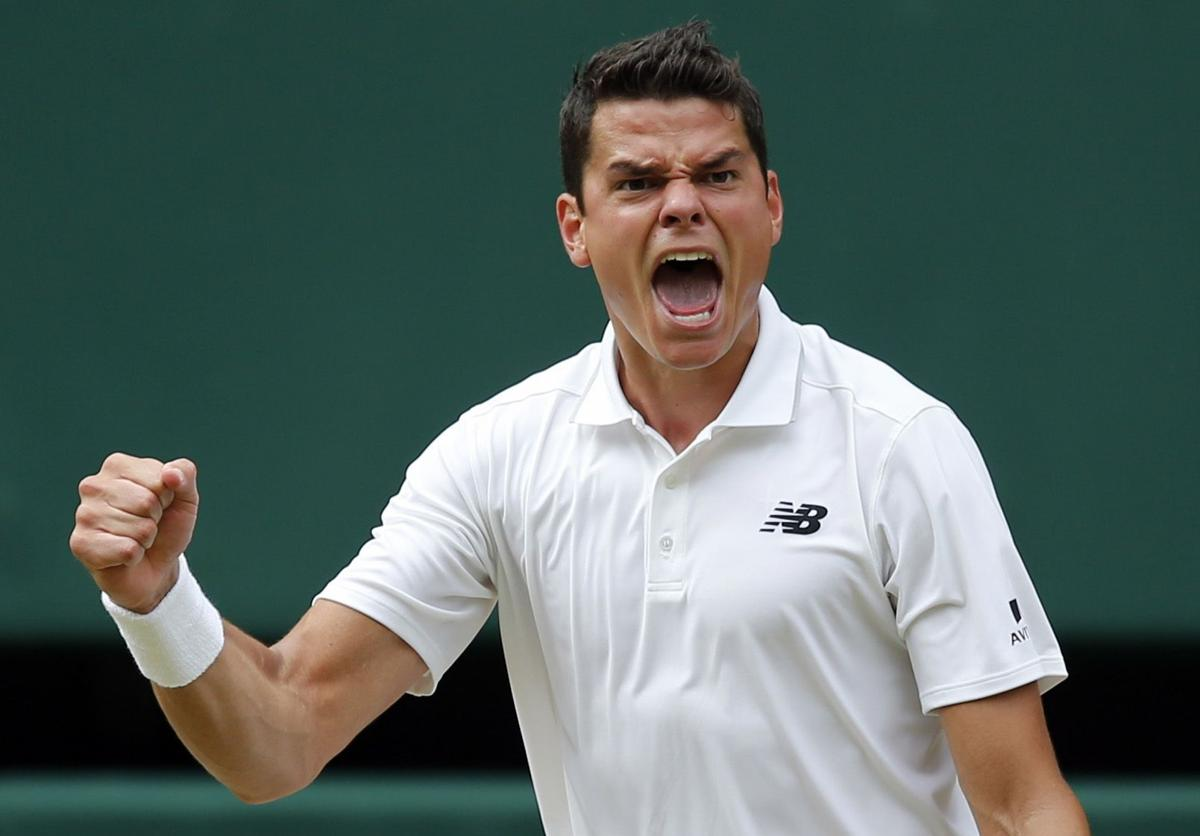 Raonic beats Federer in 5 sets to reach 1st Grand Slam final