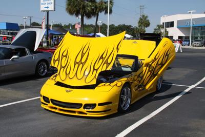 Local Corvette club's open car show at Crews Chevrolet draws scores of vehicles, raises funds for 'wounded warriors'