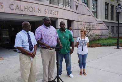 Protest at 75 Calhoun St.