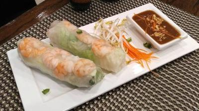 Summer rolls at Thai East Fusion