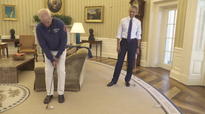 Bill Murray and President Obama putting contest in Oval Office (copy)