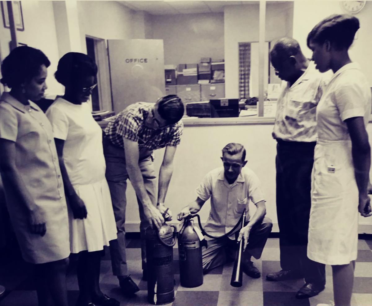 Dr. Spann in Good Samaritan Waverly Hospital with staff