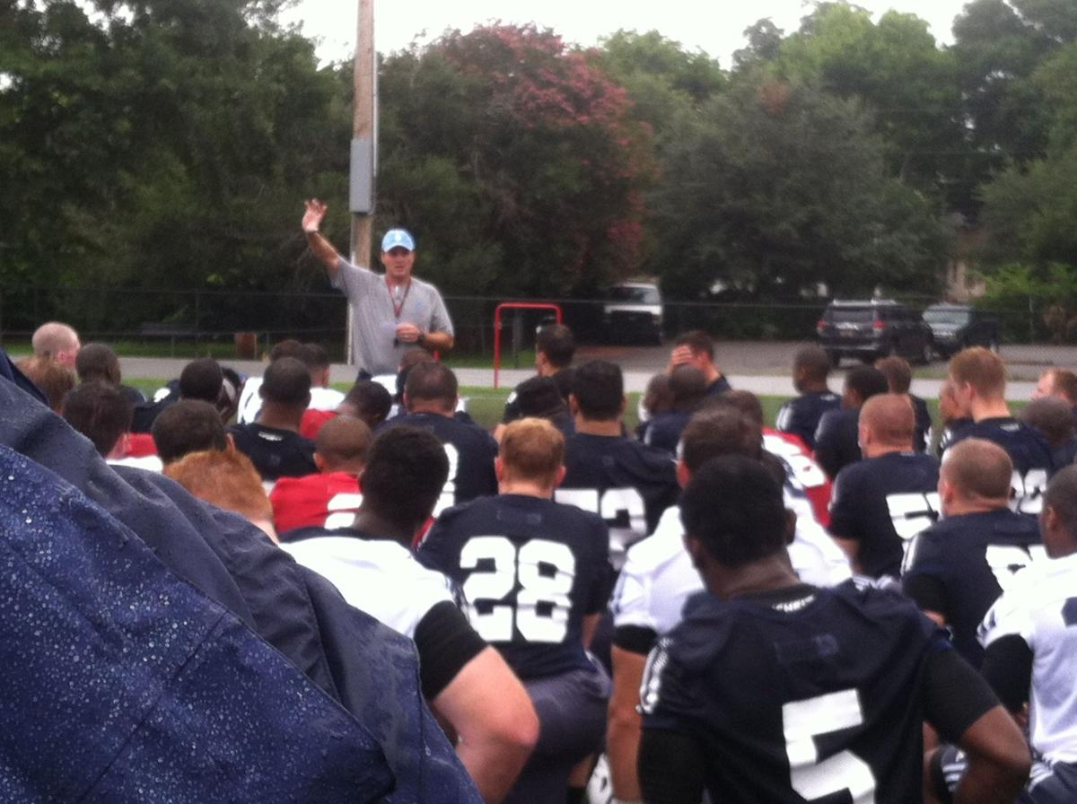 Citadel football coach Mike Houston on Bulldogs' first day of practice