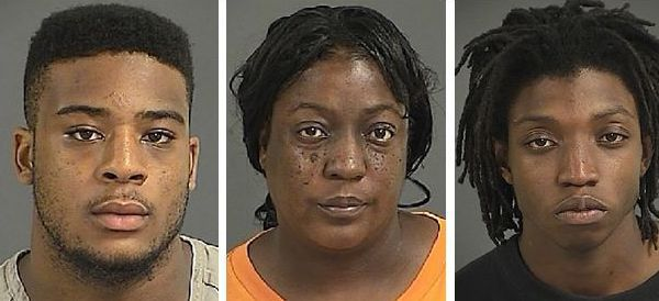 3 charged in attack with tools