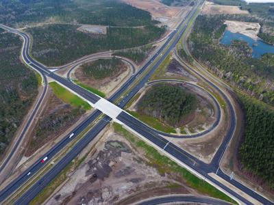 Nexton Parkway Interchange overpass aerial (copy)