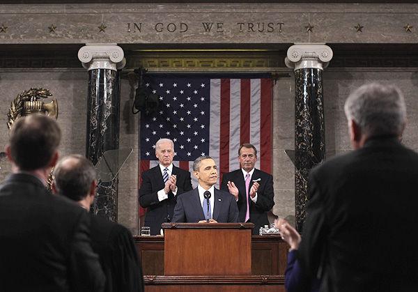 Obama calls for unity, unveils economic vision