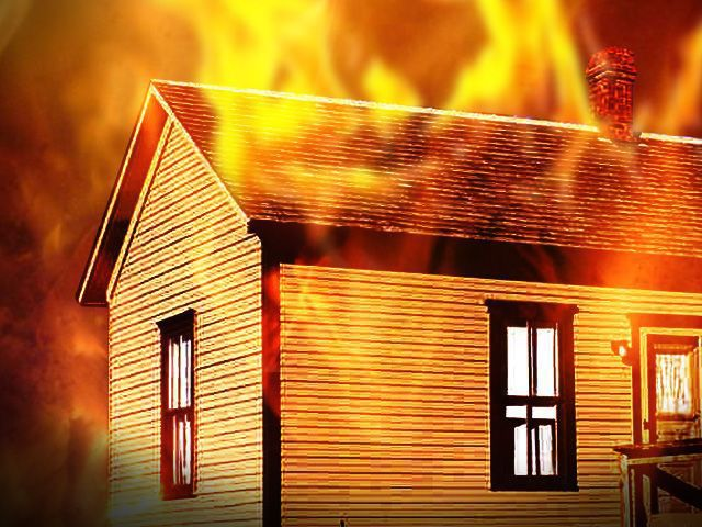 Fire destroys house near Daniel Island