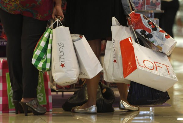 Shoppers get back in groove