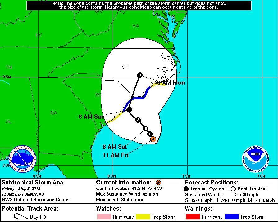 Rain, wind, tropical storm watch today in Charleston